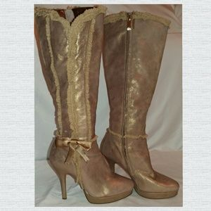 House of Deron Pink Heeled Boots